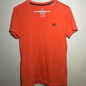 Orange adidas T-shirt
